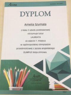 """Ogólnopolska olimpiada przedmiotowa """"olimpus"""" sesja zimowa 2020r."""