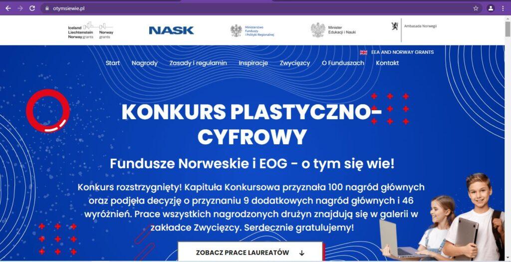 """Ogólnopolski Konkurs Plastyczno – Cyfrowym """"Fundusze Norweskie i EOG – o tym się wie!"""""""
